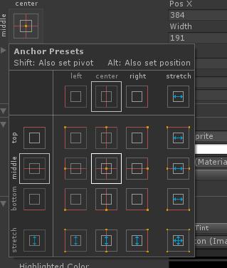 Грамотное расположение элементов интерфейса в Unity